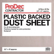 Prodec Contractor 12' x 9' Poly Backed Cotton Twill Dust Sheet
