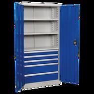 Industrial Cabinet 5 Drawer 3 Shelf - 900 x 450 x 1800mm
