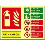 Photoluminescent Fire Extinguisher Signs (200 x 150mm) - Rigid Self Adhesive
