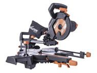 Evolution R210SMS-300+ Pro Multi-Material Sliding Mitre Saw 210mm 1500W 110V