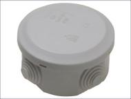 IP44 Outdoor Circular Junction Box 80 x 40mm
