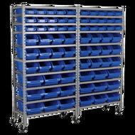 Sealey Mobile Bin Storage System With 72 Bins
