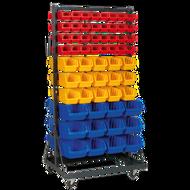 Sealey Mobile Bin Storage System With 118 Bin