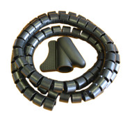 28mm x 1.5m Black PVC Cable Tidy Complete With Applicator