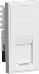 UTP CAT6 RJ45 Outlet Module 25 x 50mm - White