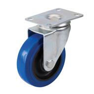 Swivel Blue Elastic Rubber Castor