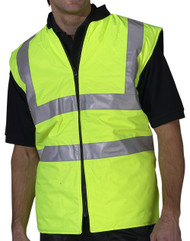 4 in 1 Hi-Vis Bodywarmer, Yellow