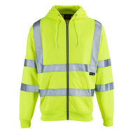 SuperTouch Hi-Vis Hooded Fully Zipped Sweatshirt - Yellow