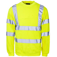 SuperTouch Hi-Visibility Crew Neck Sweatshirt - Yellow