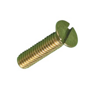 Brass Slot Countersunk Machine Screws (Per Box)