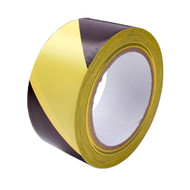 50mm X 33mtr Hazard Warning Tape Black / Yellow