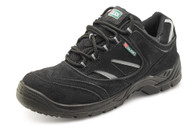 Click Dual Density PU Black Safety Trainer Shoe