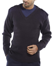 Click Military Style Security Sweater, Navy