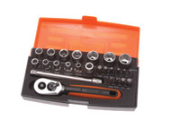 Bahco SL25 Mini Socket Set of 25 Metric 1/4in Drive