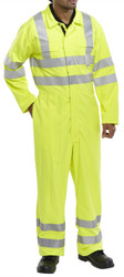 Click Fire Retardant Hi-Visibility Yellow Boilersuit