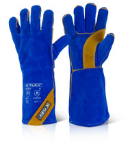 CAT 2 Blue Gold Welding Gloves Large
