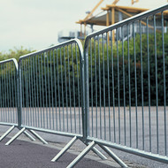2.3 Metre Crowd Control Barrier, Fixed Leg, Galvanised
