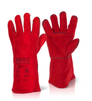 Click Red Welders Gauntlet With Patch Palm