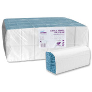 C Fold Hand Towel Blue 1Ply (Case Of 4000 Sheets)