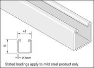 41x41 Mild Steel Plain Galv Channel (3 Metre)