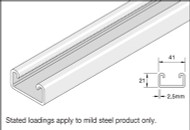 41x21 Mild Steel Plain Channel (3 Metre)
