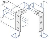 Galv P1278 3 x 1 Hole Angle Fitting