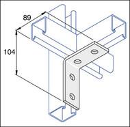 Galv P1325 2 x 2 Hole Angle Bracket