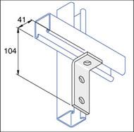 Galv P1326 2 x 1 Hole Angle Bracket