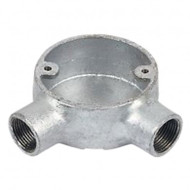 Galvanised Steel Conduit Angle Box