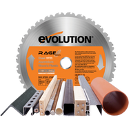 Evolution 255mm Rage Multi Purpose Saw Blade