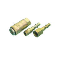 3 Piece Air Line Coupling Set 1/4 BSP