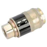 "1/4"" BSP Female Parallel' Safeflow' Air Line Coupling (Sold Loose)"
