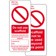 Scaffold Prohibition Tag Inserts (Pack of 10)