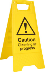 'Cleaning In Progress' A Board