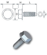 Washer Hex Tap-Fix Bzp Screw (Per 100)
