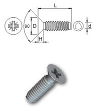 Countersunk Tap-Fix Bzp Screw (Per 100)