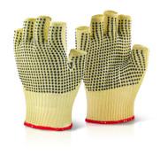 Kevlar Fingerless Dotted Gloves (Large)