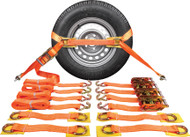Complete Recovery Strap Orange 5000kg (Set 4)
