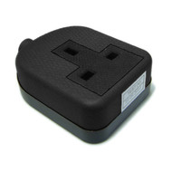 13 Amp Black Rubber 1G Socket