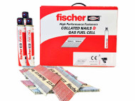 Fischer 3300pk 2.8 x 63mm Ring Nails Bright and 3pk Fuel