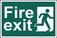 Fire Exit Sign (PVC) 300 x 200mm