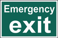 Emergency Exit PVC Sign (300 x 200mm)