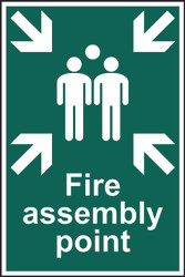 Fire Assembly Point PVC (200 x 300mm)