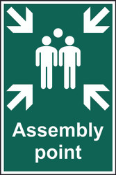 Assembly Point PVC Sign (200 x 300mm)