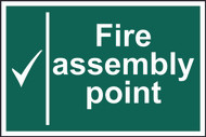 Fire Assembly Point PVC Sign (300 x 200mm)