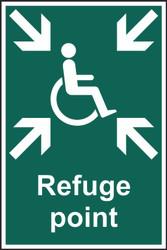 Refuge Point PVC Sign (200 x 300mm)