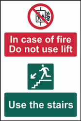 Do Not Use Lift, Use Stairs PVC Sign (200 x 300mm)