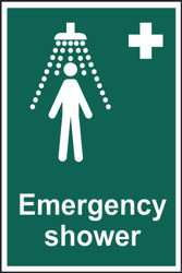 Emergency Shower Sign (200 x 300mm)