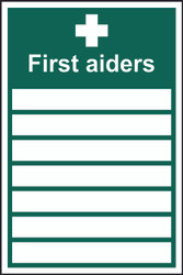 First Aiders Sign (200 x 300mm)
