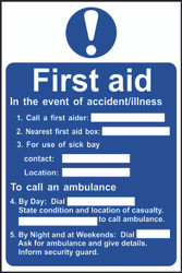First Aid Procedure Sign (200 x 300mm)